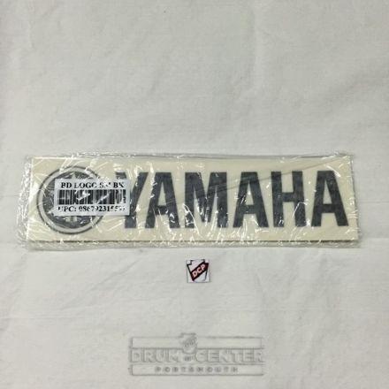 "Yamaha Logo Sticker, Black 2-Pack - 8.25"" x 1.87"""
