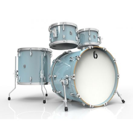 British Drum Co Legend Fusion 4pc Drum Set 10/12/16/22 Skye Blue