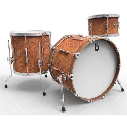 British Drum Co Lounge Club 3pc Drum Set 12/16/22 Iron Bridge