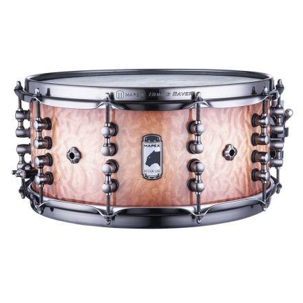 Mapex Black Panther Design Lab 14x6.5 Russ Miller Snare Drum - Peach Burl Burst