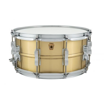Ludwig 14x6.5 Acro Brass Snare Drum With Brushed Finish