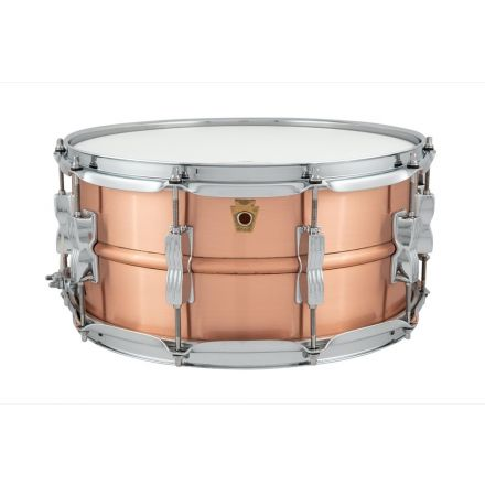 Ludwig 14x6.5 Acro Copper Snare Drum With Brushed Finish