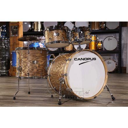 Canopus Ash 4pc Rock Drum Set w/ Tom Arm