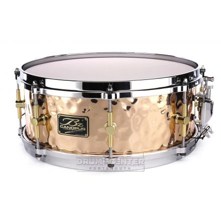 Canopus 'The Bronze' Hammered Snare Drum 14x5.5 w/ Cast Hoops