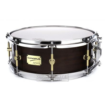 Canopus Mahogany Snare Drum 14x5.5 Black Lacquer