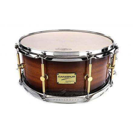 Canopus Mahogany Snare Drum 14x6.5 Brown Burst Lacquer
