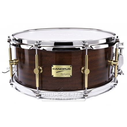 Canopus Mahogany Snare Drum 14x6.5 Black Lacquer