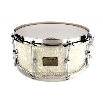 Canopus Neo Vintage 50 M1 Maple/Gumwood Snare Drum 14x6.5 - Vintage Pearl Wrap