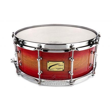 Canopus One Of A Kind Chestnut/Bubinga Snare Drum 14x6 Cherry Sunburst Lacquer