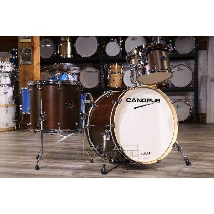 Canopus RFM 3pc Rock Drum Set Bitter Brown Oil