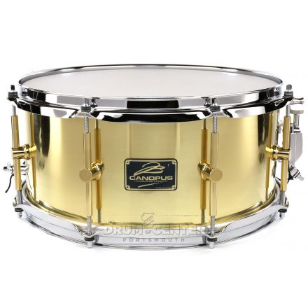 Canopus 'The Brass' Snare Drum 14x6.5 w/ Flanged Hoops