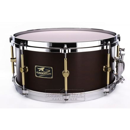 Canopus 'The Maple' 10ply Snare Drum 14x6.5 w/Cast Hoops - Bitter Brown Oil