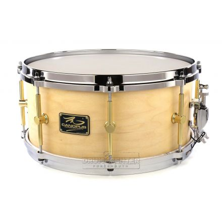 Canopus 'The Maple' 10ply Snare Drum 14x6.5 w/Cast Hoops - Natural Oil