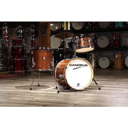 Canopus Yaiba 3pc Bop Drum Set Antique Brown Matte Lacquer