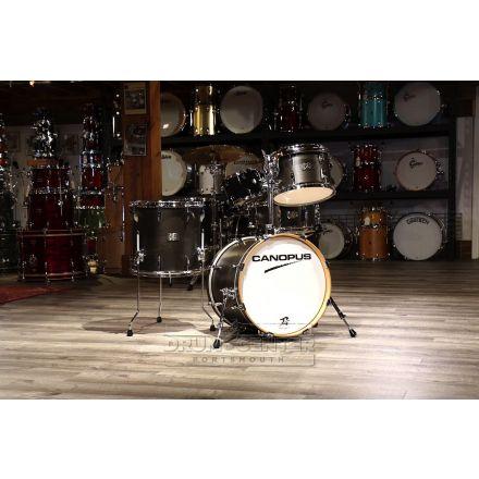 Canopus Yaiba 3pc Bop Drum Set Antique Ebony Matte Lacquer