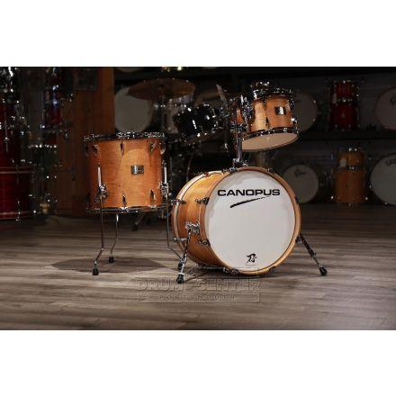 Canopus Yaiba 3pc Bop Drum Set Antique Natural Matte Lacquer