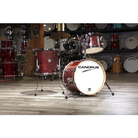 Canopus Yaiba 3pc Bop Drum Set Dark Wine Red Matte Lacquer