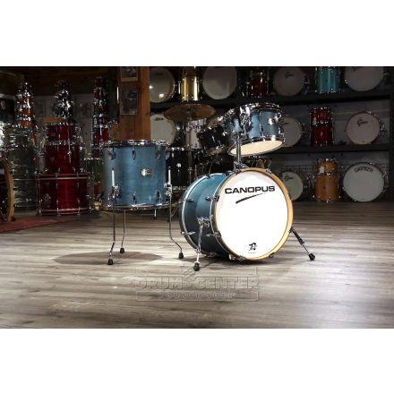 Canopus Yaiba 3pc Bop Drum Set Indigo Matte Lacquer