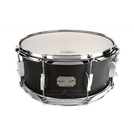 Canopus Yaiba Maple Snare Drum 14x6.5 Ebony Matte Lacquer