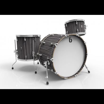 British Drum Company Legend Series Club 3pc Drum Set 12/16/22 - Carnaby Slate