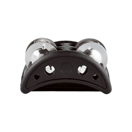 Meinl Compact Foot Tambourine Plastic w/ Steel Jingles, Black