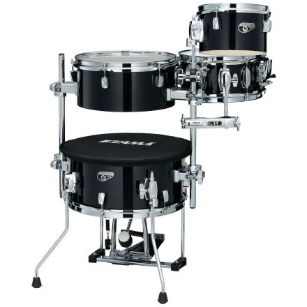 Tama Cocktail-jam Mini 4pc Shell Pack With 14 Bass Drum - Hairline Black