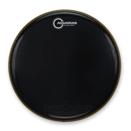 Aquarian Snare/Tom Heads : Classic Clear Drumhead 15 Black