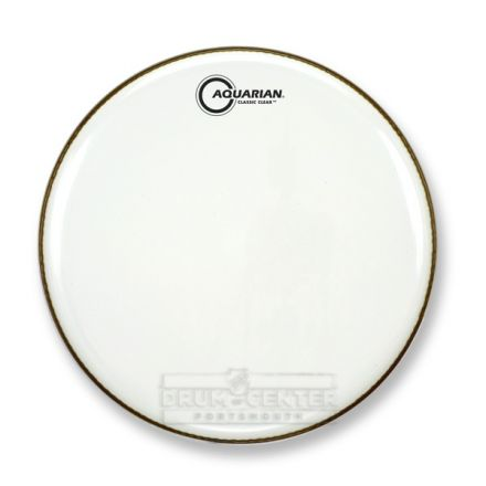 Aquarian Snare/Tom Heads : Classic Clear Drumhead 14 White