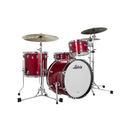 Ludwig Classic Oak 3pc Pro Beat Drum Set Red Sparkle
