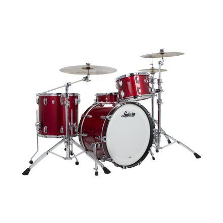 Ludwig Classic Oak 3pc Fab Drum Set Red Sparkle
