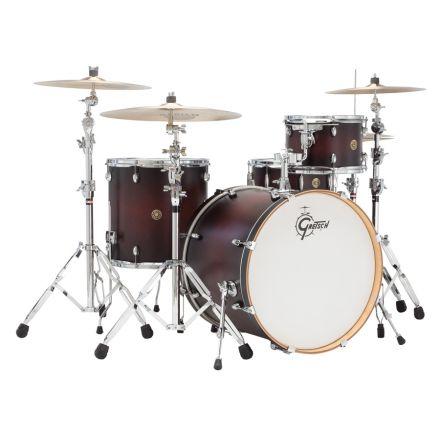 Gretsch Catalina Maple 4pc Rock Drum Set Satin Deep Cherry Burst