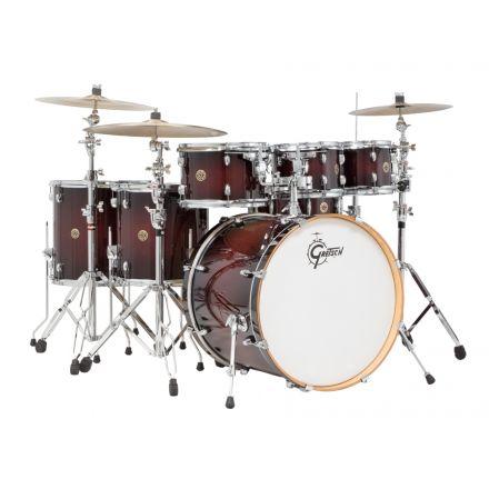 Gretsch Catalina Maple 7pc Rock Drum Set Deep Cherry Burst