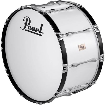 Pearl 28X14 Competitor Bass Drum & Carrier - Pure White