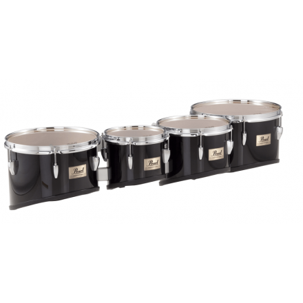 Pearl 8, 10, 12, 13 Competitor Tom Quads & Carrier - Midnight Black