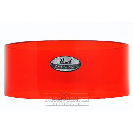 Pearl Crystal Beat Acrylic Free Floating Snare Shell 14x6.5 Ruby Red