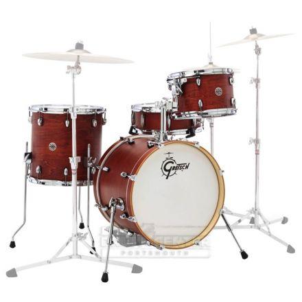 Gretsch Catalina Club 3 Piece Drum Set With 20 BD - Satin Walnut Glaze