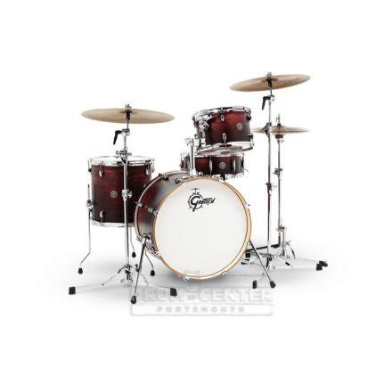 Gretsch Catalina Club 4 Piece Drum Set With 20 Bass Drum - Satin Antique Fade
