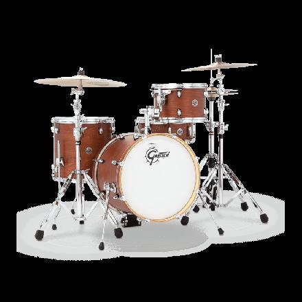 Gretsch Catalina Club 3 Piece Drum Set With 18 Bass Drum - Satin Walnut Glaze