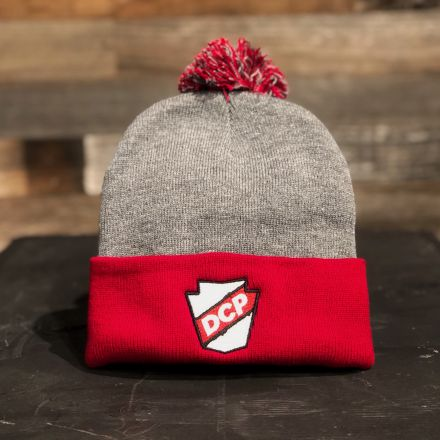 DCP Apparel : Beanie, Red/Gray