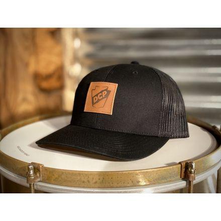 DCP Apparel : Trucker Hat, Black/Black w/ Patch