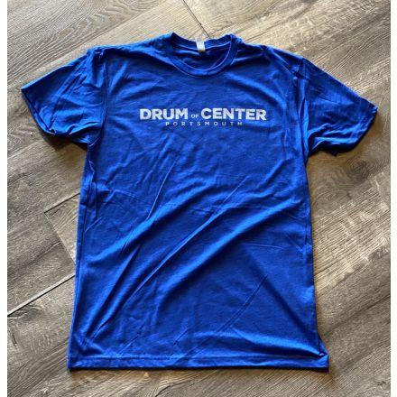 DCP Apparel : T-Shirt, Blue w/Gray Logo, Medium