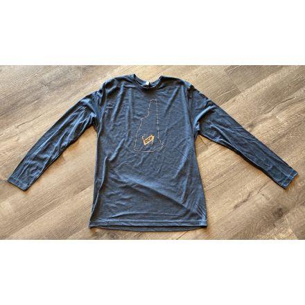 DCP Apparel : Long Sleeve Shirt, Blue, NH Logo, Medium