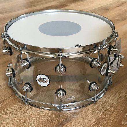 DW Design 14x8 Snare Drum - Clear Acrylic