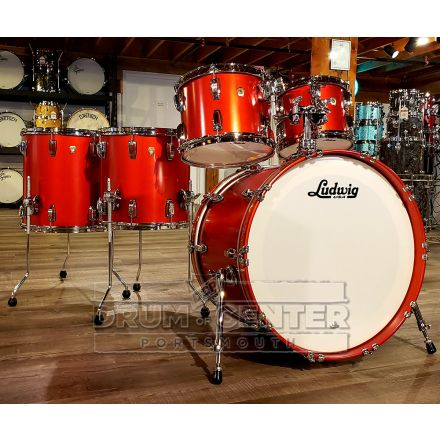 Ludwig Classic Maple 5 Piece Drum Set - Diablo Red