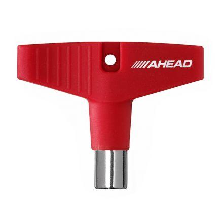 """Ahead """"GripKey"""" Drum Key (Red Silicone Grip)"""