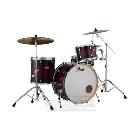 Pearl Decade Maple 3pc Drum Set Deep Red Burst