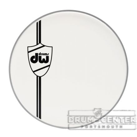 DW Drum Heads : Coated White Bass Drum Head, Classic, 22 Inch