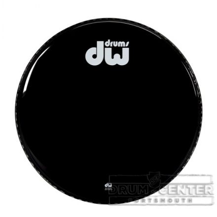 DW Drum Heads : 24 Inch Gloss Black Bd Head-Non Vented