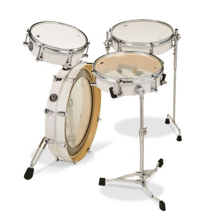 DW Performance 4pc Low Pro Drum Set White Marine