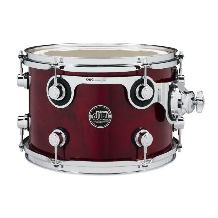 DW Performance Series Lacquer Rack Tom - 12x8 - Cherry Stain
